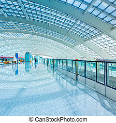 subway station - interior of the modern mall of beijin...