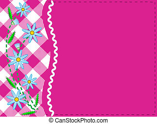 Vector Eps 8 Pink Copy Space Gingha - Vector eps8. Pink copy...