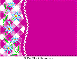 Jpg Pink Copy Space with Gingham - Jpg Pink copy space with...