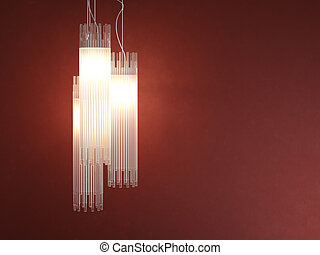 interior design deatil of tubular lamp - interior design...