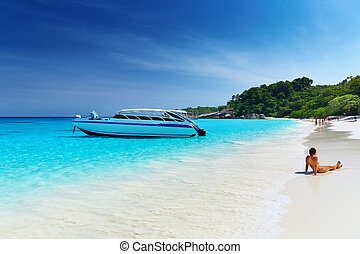 Tropical beach, Thailand - Tropical beach, Similan Islands,...
