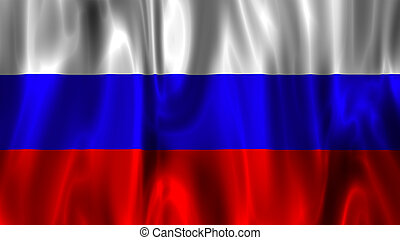 National Flag of Rusia - Wavy National Flag of Rusia