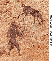 Rock paintings of Tassili NAjjer, Algeria - Famous...