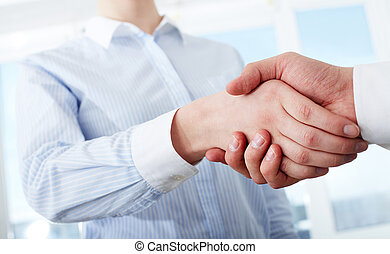 Making deal - Photo of handshake of business partners after...