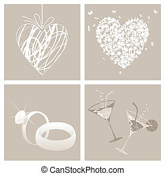 Wedding3 - Collection from wedding symbols. A vector...