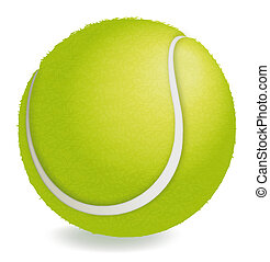Tennis ball - Fuzzy illustrated tennis ball with a textured...