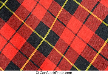 Background Texture Of Tartan Fabric - Abstract Background...