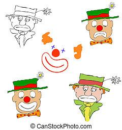 various clowns - vector