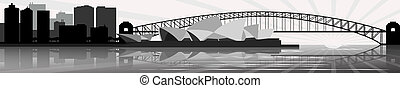 Sydney skyline - vector - Illustration of the Sydney skyline...