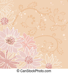 flowers pink background - illustration of a flowers pink...