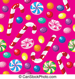 seamless pattern funny candies