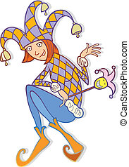 Jester woman - Illustration of jester woman personality type