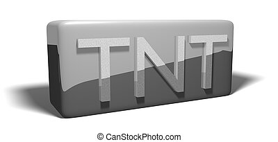 TNT - Isolated illustration of a block of TNT