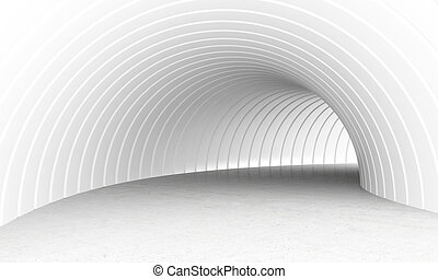 White tunnel - White and luminous underpass tunnel 3d...