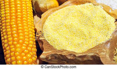 maíz, semillas, harina