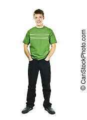 Confident young man - Happy young man full body standing...