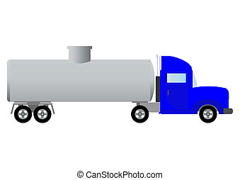 Tank truck (illustration). - Vehicle for transportation of...