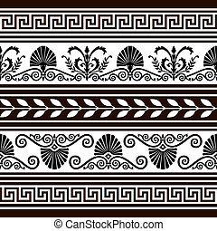 Set of antique borders and elements - Decorative vector...