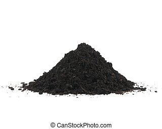 Garden Soil - Garden soil isolated against a white...