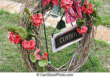 Billy The Kid Cowboy grave marker
