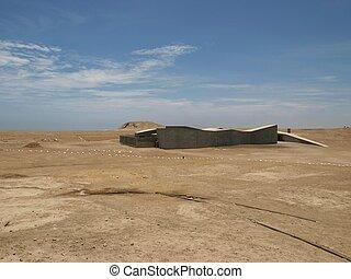 Modern architecture in a desert