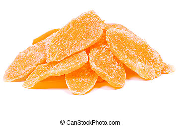dried mango - Dried mango on white background