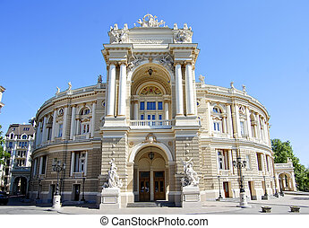 Building of Opera theater in Odessa, Ukraine