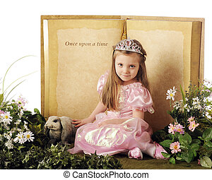 Once Upon a Princess - A beautiful little princes posed...