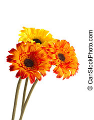 Three artificial flowers