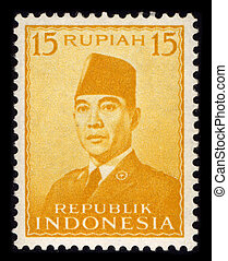 Postage stamp - INDONESIA-CIRCA 1970:A stamp printed in...