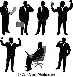 businessmen silhouettes- vector