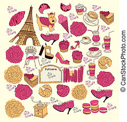 Vector Collection symbols of Paris
