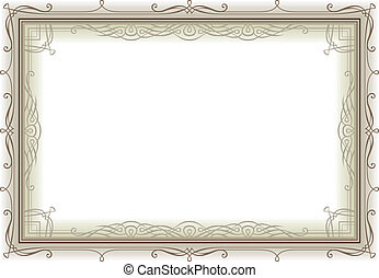 decoretive vintage frame - retro frame page decoration