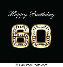 heureux, anniversaire, 80