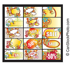 Vector set with visiting cards