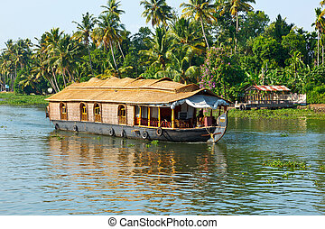 Houseboat on Kerala backwaters Kerala, India