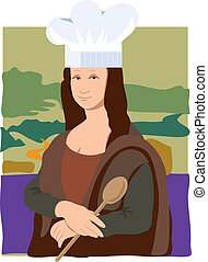Mona Lisa Chef - The Mona Lisa dressed as a chef