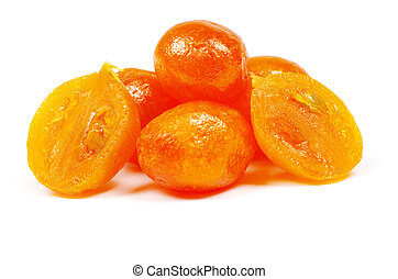 kumquat - Dried kumquat isolated on a white background