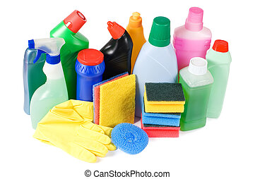 Assortment of means for cleaning isolated