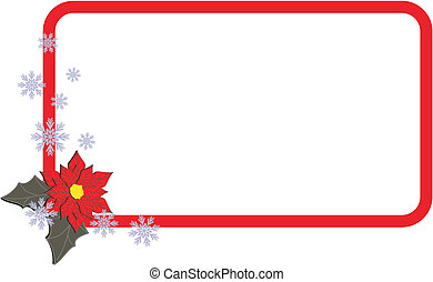 poinsettia copyspace in vector format