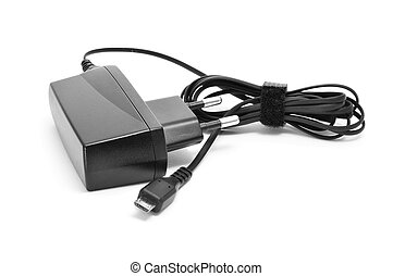 charger - a mobile phone charger on a white background