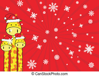 giraffe claus background in vector format
