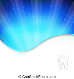 Background With Tooth And Beams, Vector Illustration