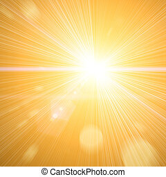 sun light with a lot of beams