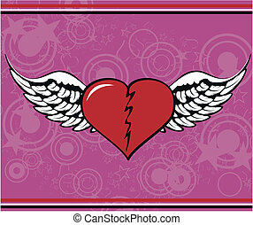 winged heart background7