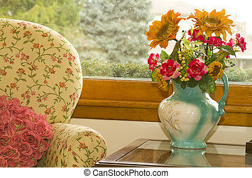 Cozy Room - Cozy cottage looking room with stuffed chair by...