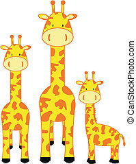giraffe family in vector format