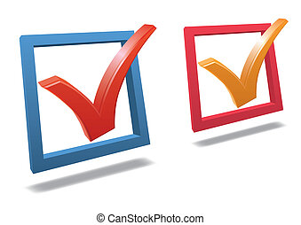 Check box with check mark vector
