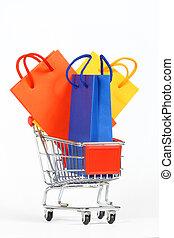 Shopping Cart - shopping cart isolated on white background