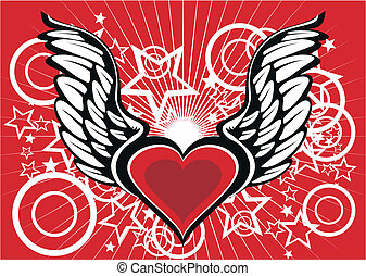 winged heart wallpaper2 - winged heart wallpaper in vector...